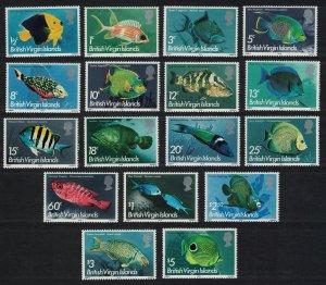 BVI Fishes 17v SG#330-346