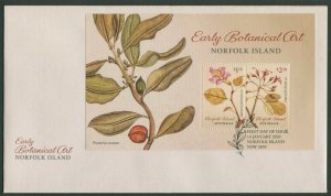 NORFOLK  ISLAND: EARLY BOTANICAL ART 2020 - MINIATURE SHEET FDC