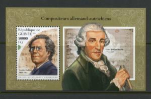 Guinea 2018 Deutsche Österreichische Komponisten Mahler & Haydn Souvenir Mint Nh