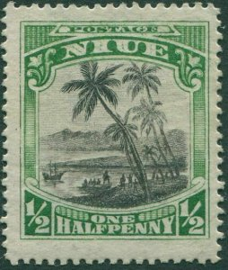 Niue 1920 SG38 ½d black and green Cook Landing MLH