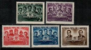 Albania Scott 486-90 Mint NH (Catalog Value $22.75)