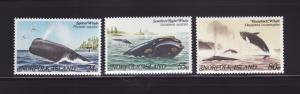 Norfolk Island 290-292 Set MNH Whales
