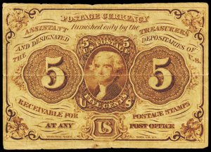 POSTAGE CURRENCY PC5  Mint (ID # 103250)