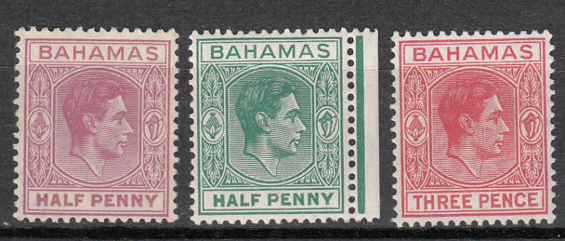 Bahamas - 1938/1952 KGVI small stamp lot - MNH (9769)