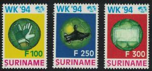 Suriname World Cup Football Championship USA 3v SG#1590-1592