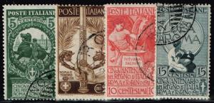 Italy SC# 119 - 122 Used (Questionable Cancels) - Lot 110815