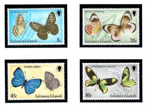 Solomon Is 431-34 MNH 1980 Butterflies