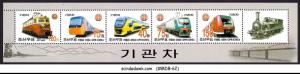 KOREA - 2004 RAILWAY LOCOMOTIVE / TRAIN - MINIATURE SHEET MNH