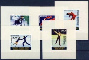 Central Africa stamp Winter Olympics Medalists 1976 Mi 417-421 + 11 WS111812