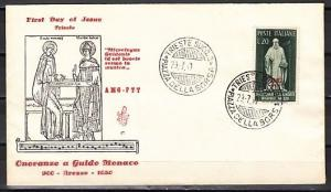 Italy-Trieste, Scott cat. 80. Composer A. G. D`Arezzo issue. First day cover.