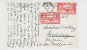 SIERRA LEONE TO GERMANY 1938 POSTED ON STEAMER H/S ON CARD ARABIAN VILLAGE