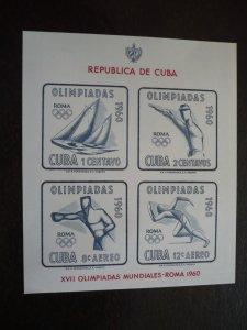 Stamps - Cuba - Scott# C213a - Souvenir Sheet