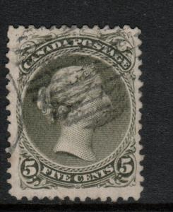 Canada #26iv Very Fine Used Perf 11.75 x 12 **With Certificate**