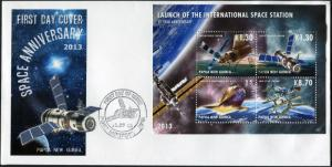Papua New Guinea. 2013. International Space Station 3 (Mint) First Day Cover