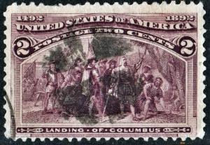 SC#231 2¢ Landing of Columbus (1893) Used