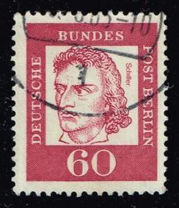 Germany #9N186 Friedrich von Schiller; Used (1.10)