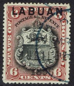 LABUAN 1896 JUBILEE 6C PERF 14.5 - 15 USED