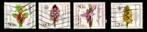 Germany Sc B623-6 1984 Flower Orchids stamp set used