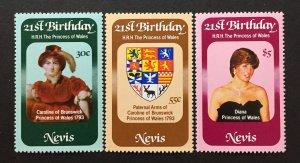 Nevis 1982 #150-2, MNH, CV $1.75