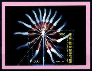 [92158] Ivory Coast 1988 Olympic Games Seoul Gymnastics Sheet MNH