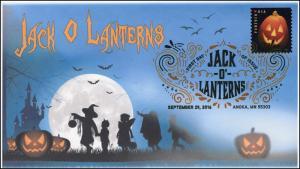 2016,  Jack O Lanterns, Halloween, Pumpkins, Digital Color Postmark, 16-288