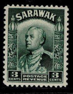 SARAWAK GVI SG108a, 3c green, M MINT.