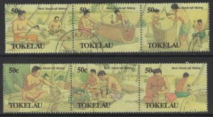TOKELAU ISLANDS SG183/8 1990 MENS HANDICRAFTS FINE USED
