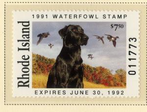 US RI3 RHODE ISLAND STATE DUCK STAMP 1991 MNH SCV $20.00 BIN $10.00