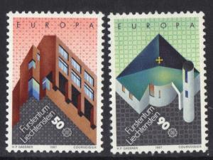 Liechtenstein   #861-862  MNH  1987   Europa modern architecture