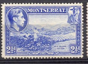 Montserrat 1938 GVI Early Issue Fine Mint Hinged 2.5d. 082796