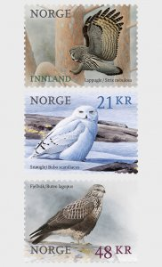2018 Norway Birds (3) (Scott 1840-42) MNH