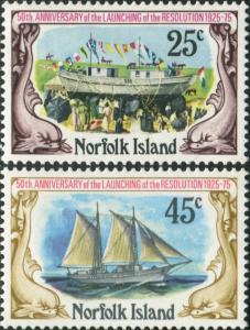 Norfolk Island 1975 SG170-171 Launching of Resolution set MNH