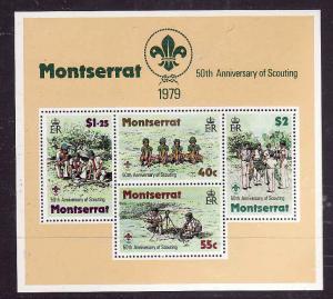 Montserrat-Sc#400a-unused NH sheet-Boy Scouts-1979-