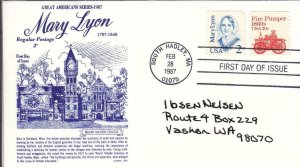 1987, Mary Lyon, Gamm, FDC (D13614)