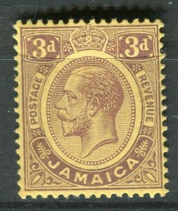 JAMAICA; 1912 early GV issue fine Mint hinged 3d. value