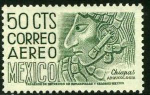 MEXICO C220En, 50cents 1950 Definitive 2nd Printing wmk 300 PERF 11, MINT NH VF