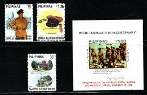 Philippines  (1980)  - Scott # 1449 - 1452,