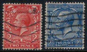Great Britain #162-3  CV $8.00