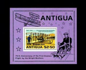 BARBUDA - 1978 - WRIGHT BROTHERS - AIRCRAFT - FLYER 1 - MINT - MNH S/SHEET!