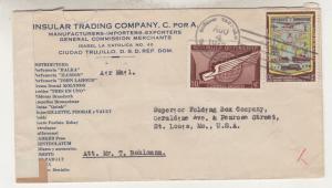 DOMINICAN REPUBLIC, 1942 Censored Airmail cover, Ciudad Trujillo to USA.
