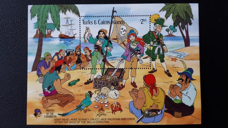 Disney - Turks & Caicos Islands 1985. ** MNH Block