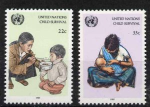 United Nations - New York 466-7 MNH UNICEF Child Survival Campaign