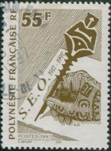 French Polynesia 1997 Sc#699,SG769 55f Hand Writing FU