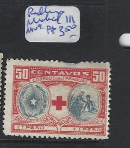 PARAGUAY  (P1008B)  RED CROSS  MICHEL 111  MOG