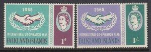 Falkland Islands 156-7 ICY mnh