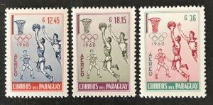 Paraguay 1960 # C262-64, MNH, CV $1.05