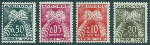 ANDORRA-FRENCH SCOTT J42-J45