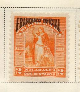 Nicaragua 1894 Early Issue Fine Mint Hinged 2c. Official Optd 323728