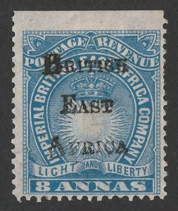 BRITISH EAST AFRICA 1895 BEA overprinted Light & Liberty 8a. Only 1900 printed.