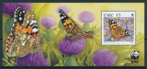 [98634] Ireland 2005 Insects Butterflies Schmetterlingen WWF Souvenir Sheet MNH